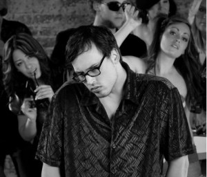 Nerdy loner at a 1970s Disco Music Party